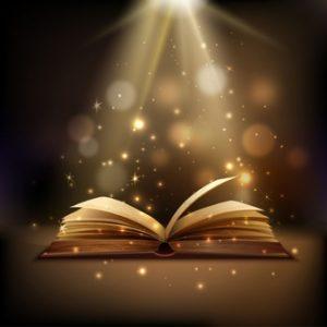 livre ouvert lumiere mystique